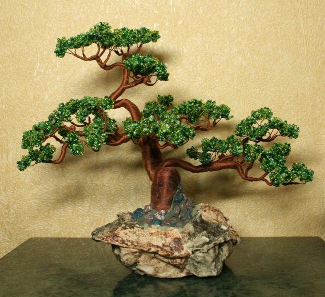 Сделать своими руками из бисера дерево