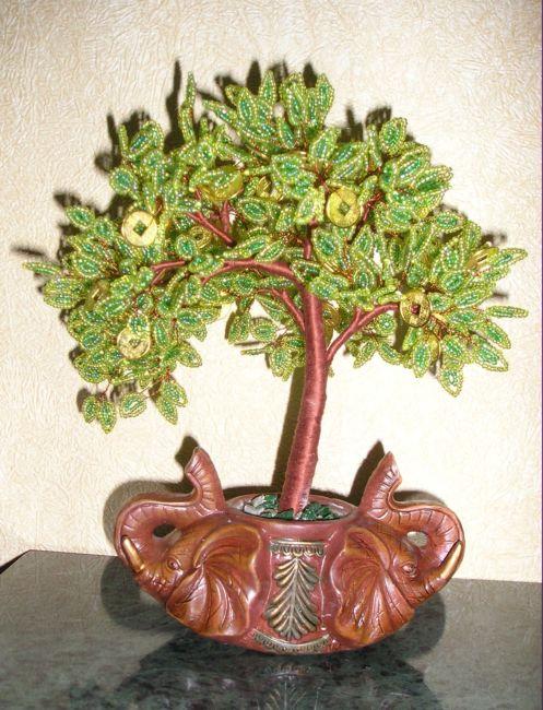 Рхемы плетения бисером, цветы и деревья из бисера, игрушки своими.