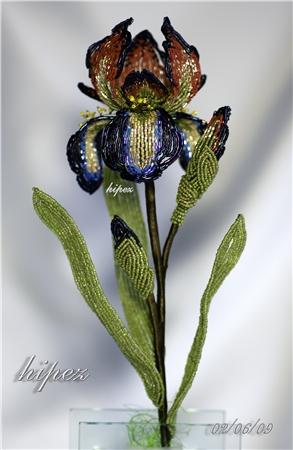 Бесподобные цветы можно делать из бисера Эти работы делала одна моя...