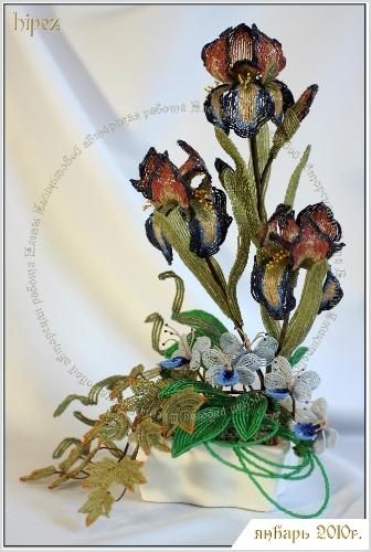 Великолепные цветы от Аленки.  Увлечение бисероплетением у мастера началось в феврале 2006г. после посещения...