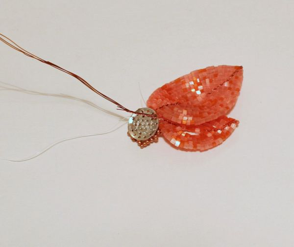 Французское плетение цветов.  Анемона цветы из бисера - Плетение бисером.
