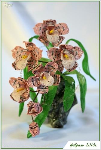 С тех пор очарование бисером не прошло, только усилилось.  Поначалу она плела цветы по.